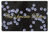 Trixie 24547 Коврик под миску с рисунком лапки, 44х28см., фото 1