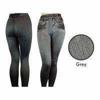 Джеггинсы корректирующие утепленные Slim'nLift Caresse Jeans [серые] (M)