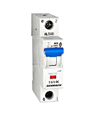Автоматический выключатель DC С6А 1P 10кА