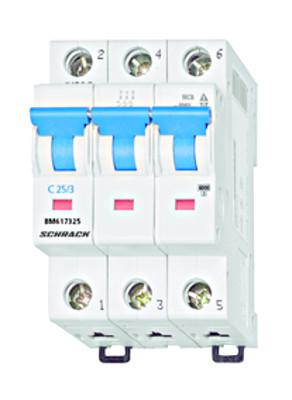 Автоматический выключатель 3-полюса 25А