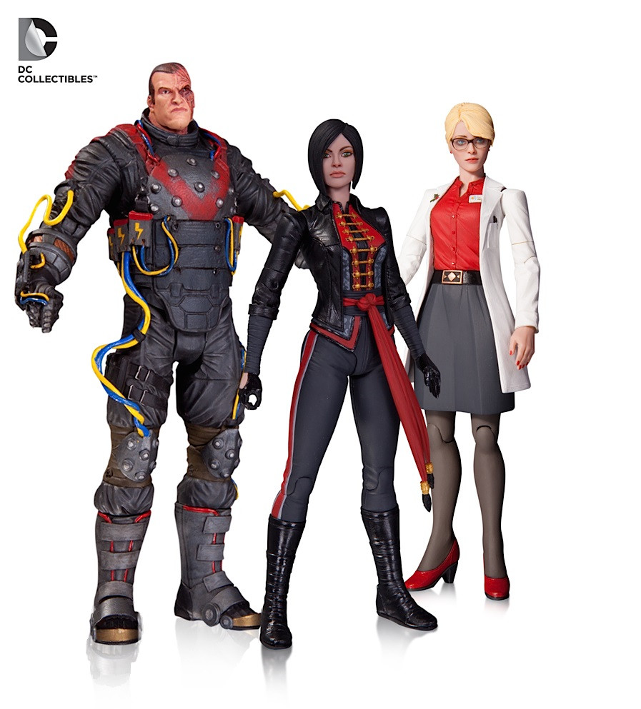 "DC Collectibles ""Batman Arkham Origins"" Набор фигурок Электрошокер, Харлин Квинзель и Леди Шива"