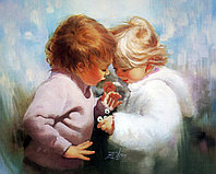 """Картины стразами """"Счастливое детство"""" 40х50 см"""