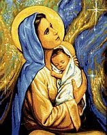 "Картина стразами ""Дева Мария и дитя"" 40х50 см"