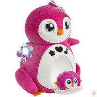 Интерактивный пингвин Penbo розовый с пингвиненком BEBE, фото 1