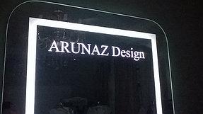 Установка зеркала с логотипом (15 сентября 2015) 2
