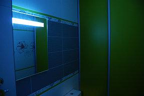 Установка зеркала с подсветкой в ванную (30 сентября 2015) 2