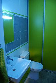Установка зеркала с подсветкой в ванную (30 сентября 2015) 1