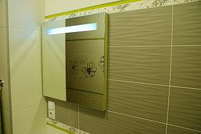 Установка зеркала с подсветкой в ванную (30 сентября 2015) 5