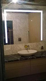 Установка зеркала с подсветкой в ванную (31 мая 2015) 1