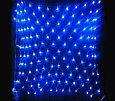 Гирлянда светодиодная СЕТКА 3х3м, теплый, белый, синий, фото 4