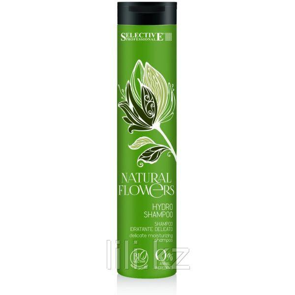 Нежный увлажняющий шампунь Selective Natural Flowers Hydro Shampoo 250 мл.