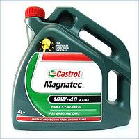 Полусинтетическое моторное масло CASTROL Magnatec 10W-40 A3/B3 4 литрa, фото 1