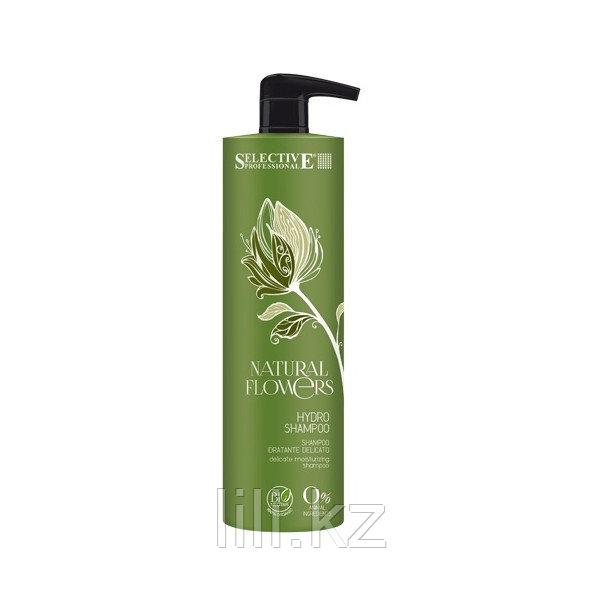 Нежный увлажняющий шампунь Selective Natural Flowers Hydro Shampoo 1000 мл.