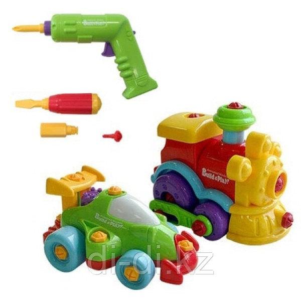 "Набор ""BUILD""N PLAY"" машина+паровозик в коробке (Keenway,)"