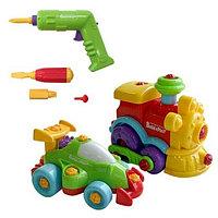 "Набор ""BUILD""N PLAY"" машина+паровозик в коробке (Keenway,), фото 1"