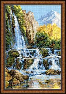 """Набор для вышивки крестом """"Пейзаж с водопадом"""" 1194"""