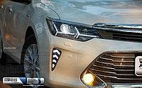 Дневные ходовые огни на Toyota Camry V55 2014-17 дизайн Елочка, фото 1