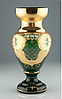 Ваза 30см зеленая Srdcovka (JN Glass, Чехия)