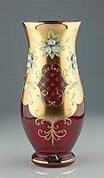 Ваза 30см красная Pytel (JN Glass, Чехия)