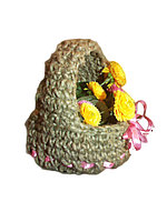 Плетеная декоративная корзинка , фото 1