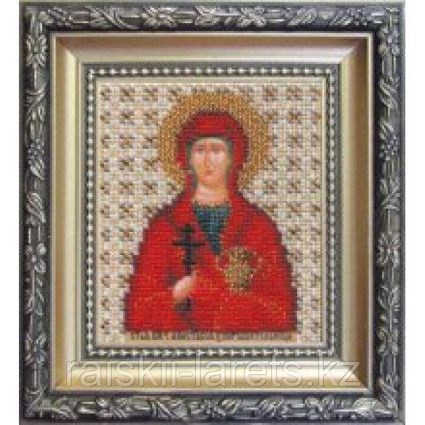 """Набор для вышивания бисером """"Икона святая мученица узорешительница Анастасия """" Б-1069"""