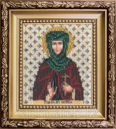 """Набор для вышивания бисером """"Икона святая мученица Евгения """" Б-1098"""