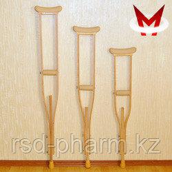 Костыли подмышечные деревянные с мягкими подмышечниками 01-КИ