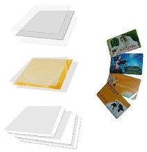 ПВХ пластик Белый (Printable) под визитки, бейджи, меню, итд