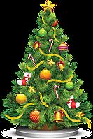 Аренда елки с классическим оформлением