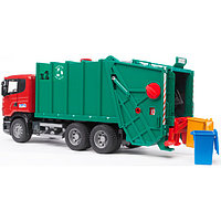 Мусоровоз Scania (зелёный фургон, красная кабина)