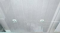 Подвесной потолок A100AS серебристый металлик с металлической полосой