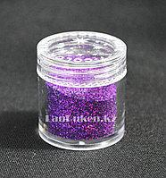 Блестки Color nail, блестки для ногтей, глаз, волос, тела, блестки для макияжа, глиттер, фиолетовые, фото 1