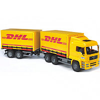 Фургон MAN DHL с прицепом-фургоном