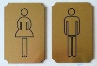Табличка на туалет
