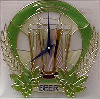 """Витражные часы """"Пиво!"""""""