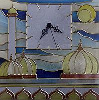 """Витражные часы """"Мечеть"""""""