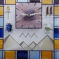 """Витражные часы """"Египет"""""""