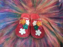 Тапочки из войлока цветные