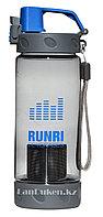 Бутылочка для воды RUNRI Beverages 550 мл, емкость для воды (с заварником) синяя