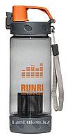 Бутылочка для воды RUNRI Beverages 550 мл, емкость для воды (с заварником) оранжевая