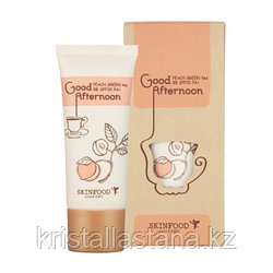 Свотчи ВВ-крем от SkinFood Good Afternoon Peach Green Tea #1 Light beige
