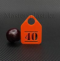 Номерки гардеробные из акрила.(Форма №40). , фото 1