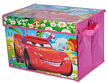 """Органайзер детский для хранения вещей """"Тачки"""" 38* 26* 25 см, коробка для хранения"""