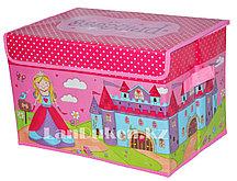 Органайзер детский для хранения вещей с принцессой 38* 26* 25 см, коробка для хранения