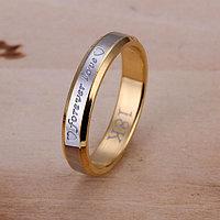 Кольцо с позолотой Forever Love тонкое