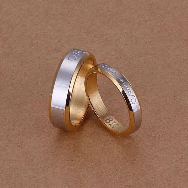 Парные кольца с позолотой Forever Love - фото 2