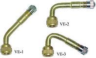 Удлинитель вентиля металлический гнутый 90 VE-2