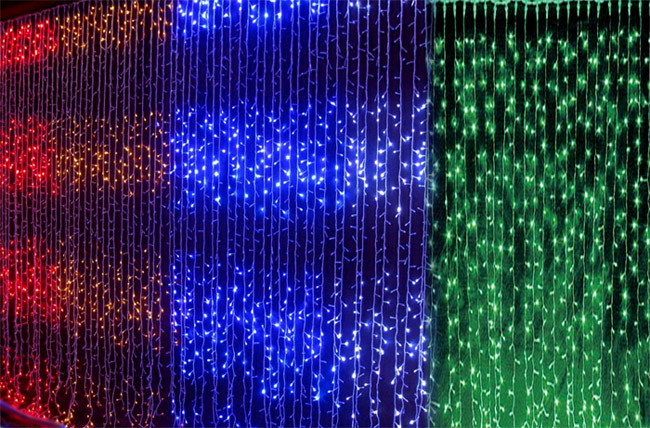 """Гирлянда светодиодная """"Водопад"""" 8*3м, Тепло белый, белый, синий, цветной. Электрогирлянда Водопад 8*3 м"""