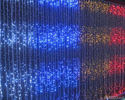 """LED гирлянда """"Водопад"""" 12*3 м,Тепло белый, белый, синий, цветной"""