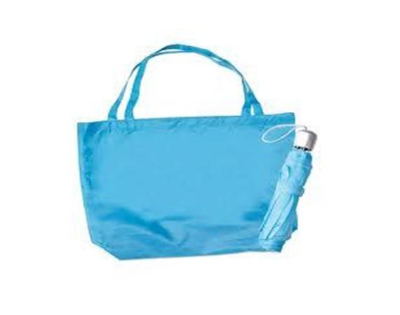 Набор из складного зонта и сумки для покупок